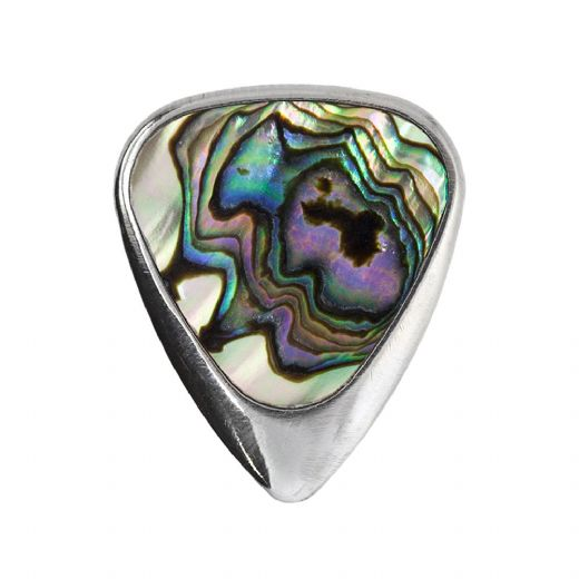Inlay Tones Mini Green Abalone 1 Guitar Pick
